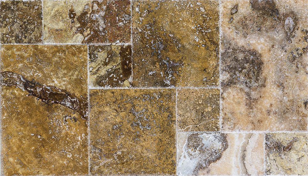 autumn-blend-travertine-brushed-chiselled-pattern-set